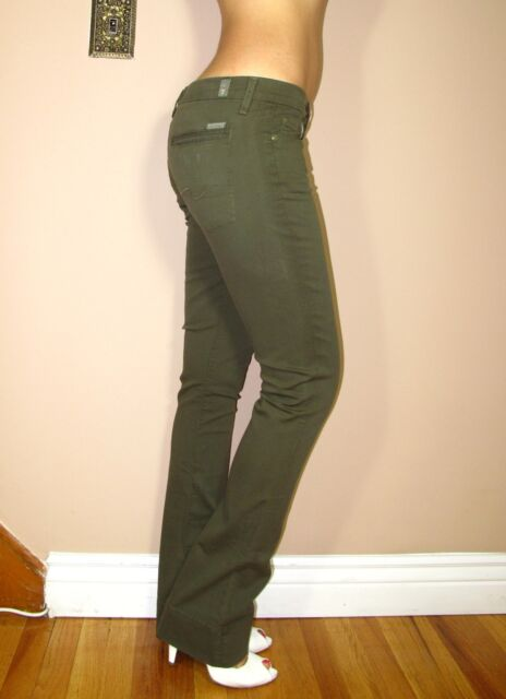Seven 7 for All Mankind Rocker Lightweight Bootcut Jeans Moss Dark ...