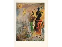 """1976 Vintage SALVADOR DALI /""""DAUGHTER OF THE WEST WIND/"""" COLOR Print Lithograph"""