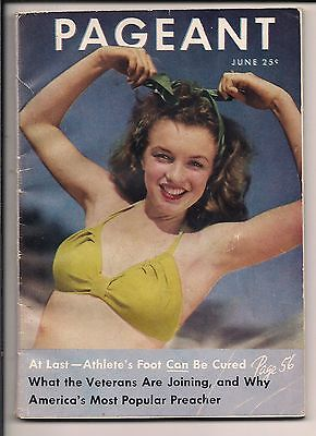 VIVCIOUS 19 YEAR OLD NORMA JEAN DAUGHERTY PAGEANT 1946 MARILYN MONROE VERY RARE!
