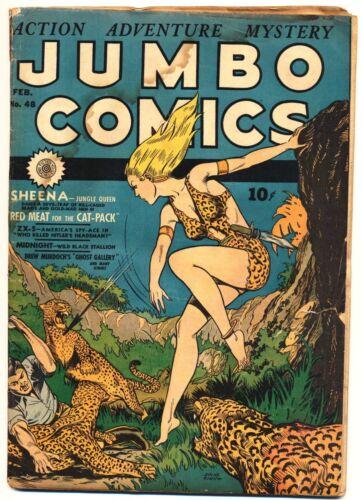 JUMBO COMICS #48 G, Sheena Jungle Queen, Fiction House 1943