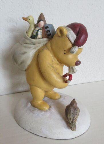 Classic Santa Pooh w/Bag of Presents Charpente Disney Christmas Figurine