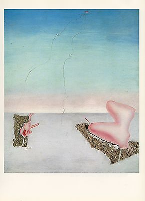 "1976 Vintage SALVADOR DALI ""UNSATISFIED DESIRES"" WOW! Color Art Print Lithograph"