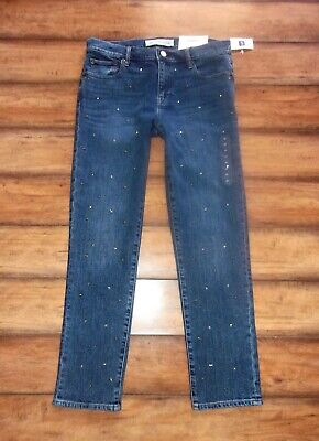 GAP 1969 ~ New! NWT Size 27 ~ STAR EMBELLISHED Mid Rise BEST GIRLFRIEND Jeans (Best Mid Rise Jeans)