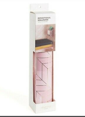 "Rose Gold Repositional Wallpaper Locker Style by Ubrands 1) 60"" x 11.75"" Sheet"