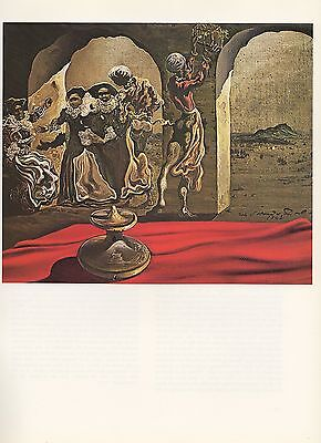 """1976 Vintage SALVADOR DALI """"INVISIBLE BUST OF VOLTAIRE"""" COLOR Print Lithograph"""