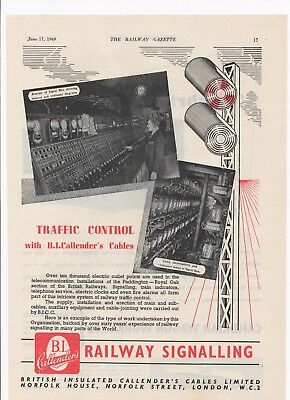 1949 Advert for B.I. CALLENDER'S SIGNALLING + Cambrian Wagon Works on the rear.