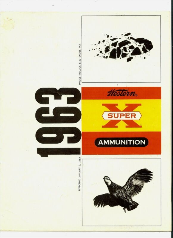 Western Ammunition Price List - 1963
