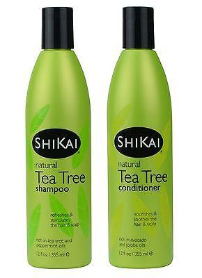 - Shikai Natural Tea Tree Shampoo & Conditioner Set - 12oz