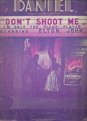 Sheet Music Daniel Don't Shoot Me Elton John 154