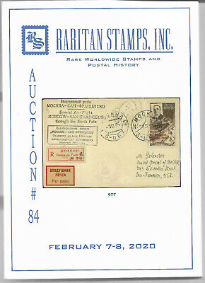 RARITAN Action # 84 Catalog Feb 7-8, Very Rare Russia, Ukraine, Latvia VF NEW !!