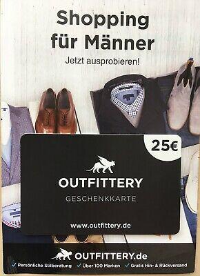 Gutschein 25 € Outfittery - Shopping für Männer ** für Neukunden ** PayPal