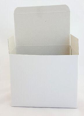 25 x Pappschachtel Faltschachtel weiß Papier 14cm 140x115x85mm Karton Faltkarton ()