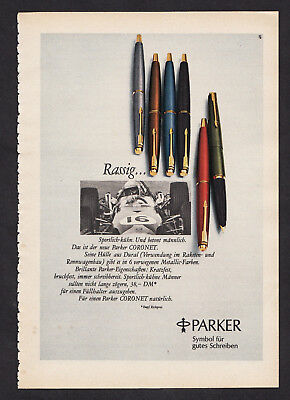 3w2828/ Alte Reklame von 1969 - PARKER - Symbol für gutes Schreiben.