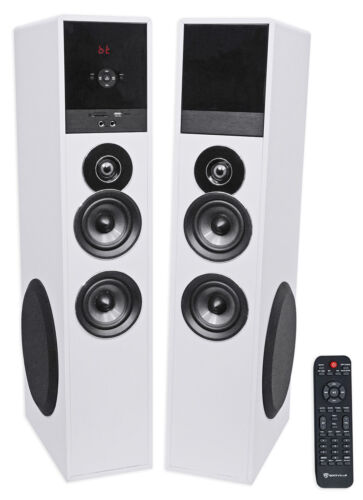 """Tower Speaker Home Theater System+8"""" Sub For Vizio D-Series Television TV-White"""