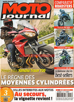 Moto journal 2187 yamaha 700 tracer mt-07 ducati xdiavel suzuki sv kawasaki er-6