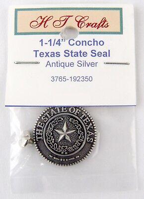 """Conchos 1-1/4"""" Texas State Seal Concho"""