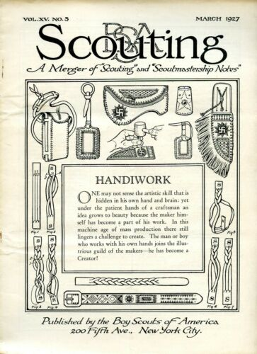 1927 4 issues BSA Scouting Magazine / Scoutmastership Notes