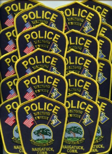 NAUGATUCK CONNECTICUT Patch Lot Trade Stock 20 Police Patches POLICE PATCH