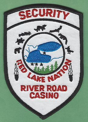 RED LAKE NATION RIVER ROAD CASINO MINNESOTA TRIBAL SECURITY POLICE PATCH