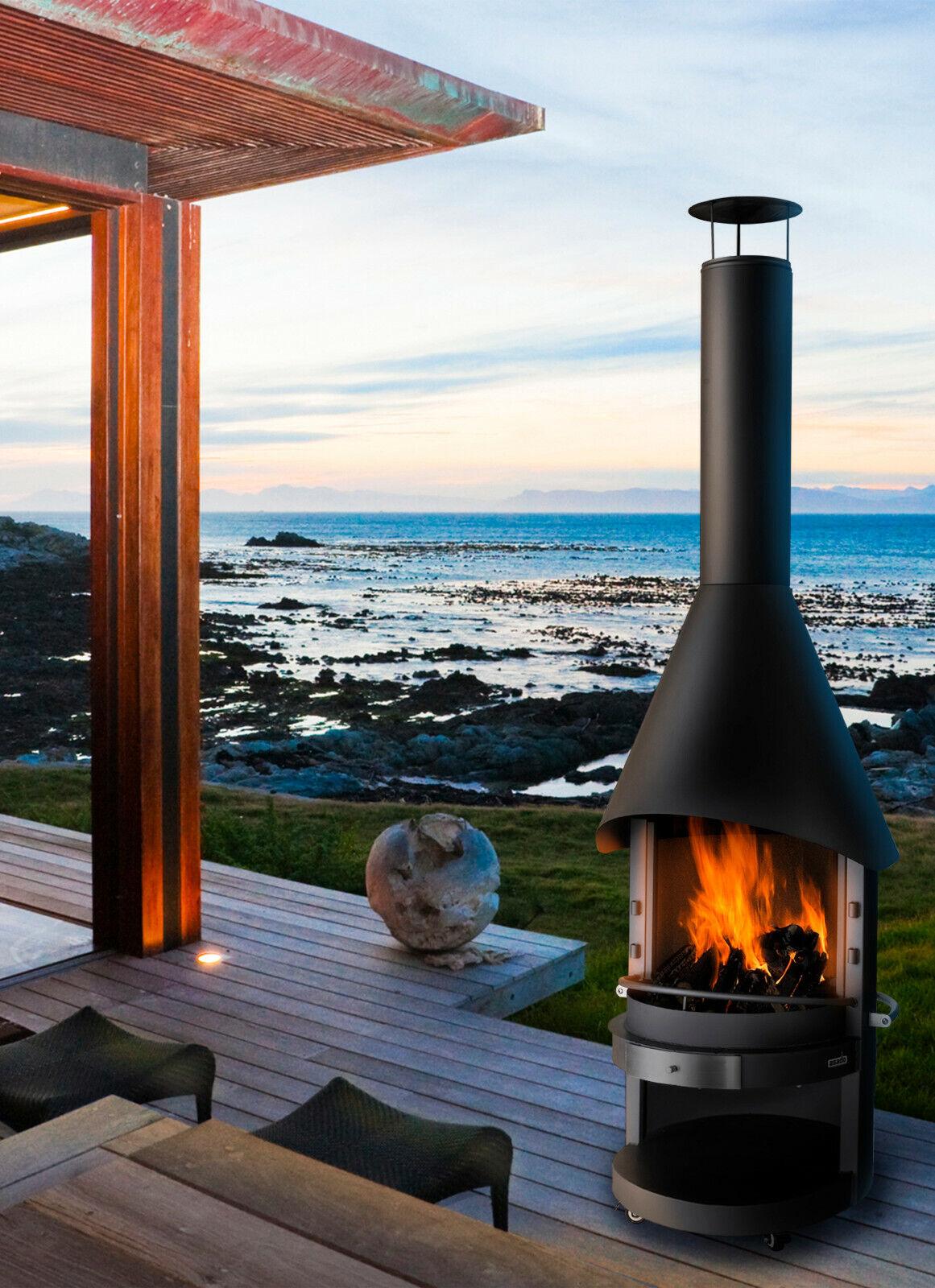 asado®-Gartengrill Grillkamin Fuego Stahl 70 Ø, Maße: ca. 70 x 226 cm