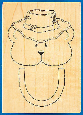 Fishing Bear Paper Bag Puppet Rubber Stamp By Darcies   Sack Closure Template