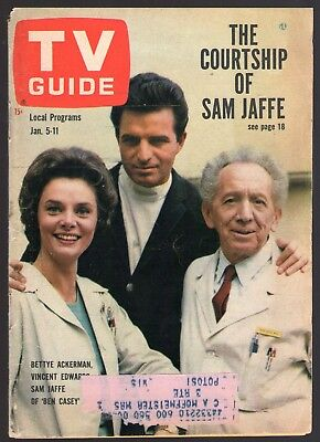 1963 TV GUIDE COVER'S ONLY~BEN CASEY~VINCE EDWARDS~BETTYE ACKERMAN~SAM JAFFE