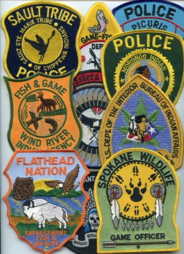 INDIAN TRIBE Patch Lot 10 Police Patches GROUP #A TRIBAL POLICE PATCH