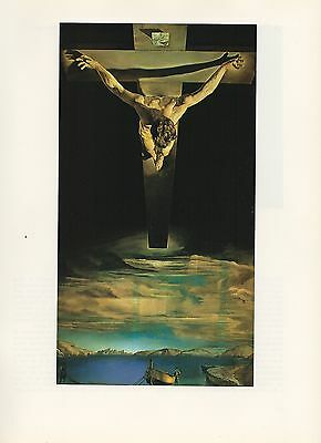 "1976 Vintage SALVADOR DALI ""CHRIST OF SAINT JOHN OF THE CROSS"" COLOR Lithograph"