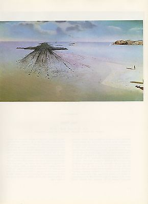 "1976 Vintage SALVADOR DALI ""GEOLOGICAL JUSTICE"" WOW! COLOR Art Print Lithograph"
