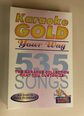 Rare Music Maestro Gold Your Way Karaoke Set 29 Cdgs 535 Songs BNIB