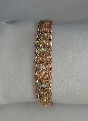 14K 585 Gold Bracelet Womens 14 Grams Russian Rose Gold Gram 14k Gold Bracelet