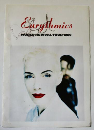 EURYTHMICS dave Stewart signed tour program cover 1989 Revival