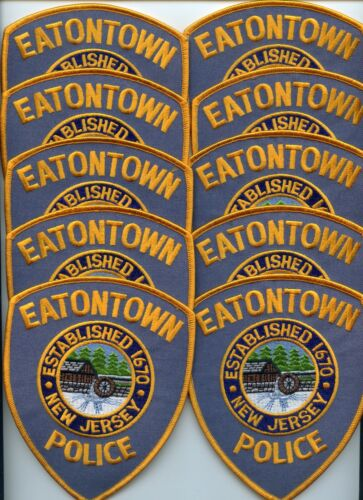 EATONTOWN NEW JERSEY Patch Lot Trade Stock 10 Police Patches POLICE PATCH