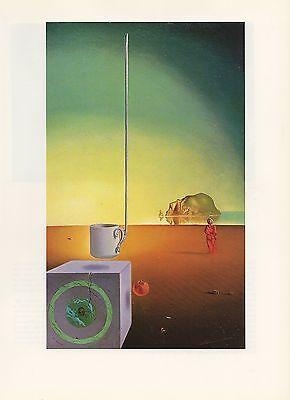 """1976 Vintage SALVADOR DALI """"FLYING DEMITASSE with INCOMPREHENSIBLE APPENDAGE"""""""