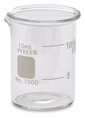 Corning Pyrex 1000 Griffin Low Form Glass Beaker 10ml - Single
