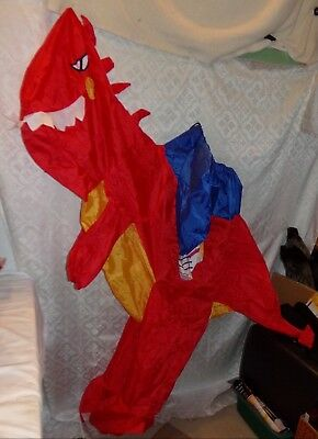 Inflatable Riding Red Dinosaur Dino Halloween Costume - NO PUMP New Youth - Red Dinosaur Costume
