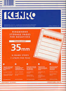 KENRO negative storage pages 35mm