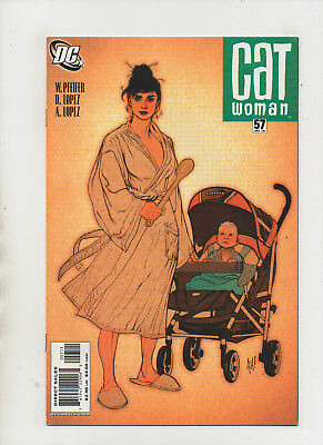 Catwoman #57 - Adam Hughes Cover Baby Helena - (Grade 9.2) - Baby Catwoman