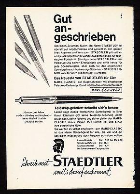 3w807/ Alte Reklame - von 1961 - Schreib mit STAEDTLER weil´s drauf ankommt