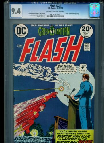 Flash #224 CGC 9.4 (1973) Green Lantern Backup Story