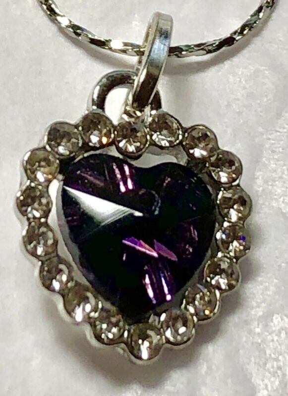 Group Of Stainless Steel Heart & CZ Necklaces Of Multiple Colors