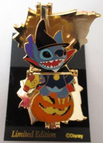 "DISNEY - Japan 2005 Happy Halloween ""LILO & STITCH"" 3D Compact Trap Pin - LE800"