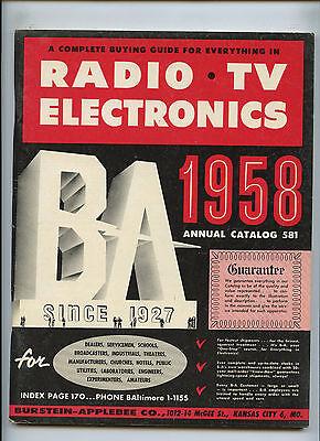 1958 Burstein Applebee Radio Tv Electronics Buying Guide Catalog   581
