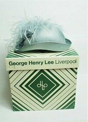 Vintage 1980's Lilac & Feather Hat by Pauline in George Henry Lee Liverpool Box