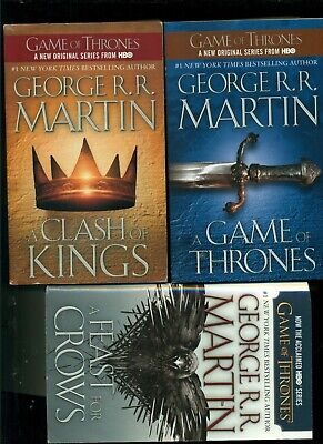 George R.R. Martin Game of Thrones A Song of Ice & Fire 3 PB Lot Set - 3 books
