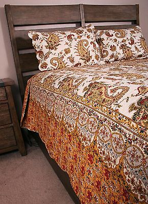 Queen dowager Quilt Set French Country Provence Exotic Cotton