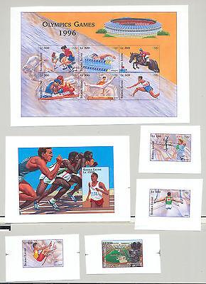 Sierra Leone #1877-1882 Olympics, Boxing 4v & 1v M/S of 6 & S/S Chromalin Proofs