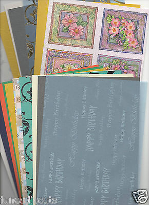 **CARDMAKING CLEAROUT - 40 x A5 SHEETS VELLUM, CARD, PAPER, GLITTER, EMBOSSED