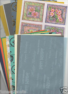 **CARDMAKING CLEAROUT - 40 a5 SHEETS VELLUM, CARD, PAPER, GLITTER, EMBOSSED