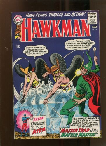 HAWKMAN #9 (8.0) MASTER TRAP OF THE MATTER MASTER! 1965